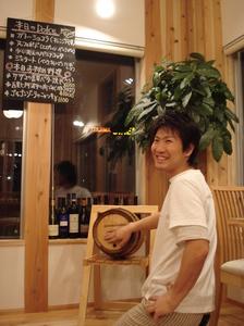 ワイン樽とヨッシー